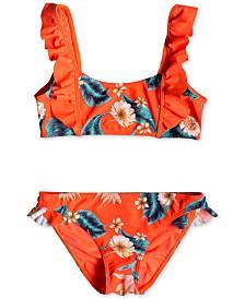 Roxy Big Girls Two-Piece Ruffle-Trim Bikini