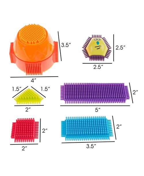Trademark Global Bristle Shape Building Blocks By Hey Play