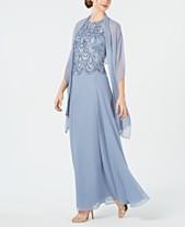 765840a3ac J Kara Sleeveless Evening Gown   Scarf