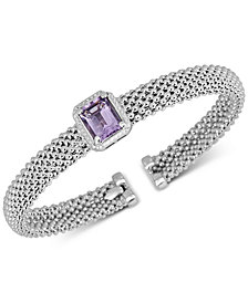 Amethyst Cuff Bangle Bracelet (2-3/8 ct. t.w.) in Sterling Silver