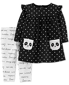 Carter's Baby Girls Panda Pocket Tunic & Printed Leggings Set