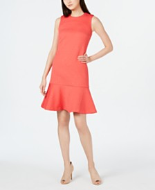 Calvin Klein Jacquard-Knit Drop-Waist Dress