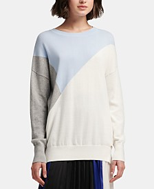 DKNY Cotton Colorblock Sweater