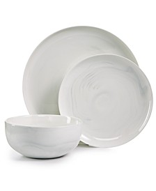 Modern Marble  12-Pc. Dinnerware Set, Service for 4, Created for Macy's