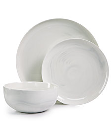 Hotel Collection Modern Marble  12-Pc. Dinnerware Set, Service for 4, Created for Macy's