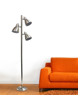 Image of Elegant Designs 1 Light Torchiere Floor Lamp w/ Frosted Plastic Shade