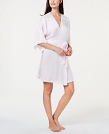 Linea Donatella Luna Bouquet Lace Trim Wrap Robe LUB030