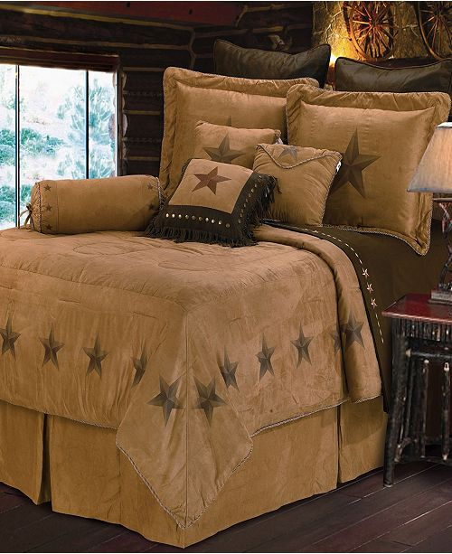HiEnd Accents Luxury Star Comforter Set, Super King