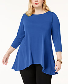 Alfani Plus High-Low Tunic, Created for Macy's
