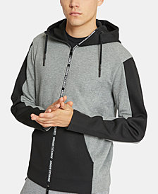 Armani Exchange Men's Zip-Front Hooded Sweatshirt