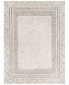 "Bahar BHR-2321 Medium Gray 6'7"" x 9' Area Rug"