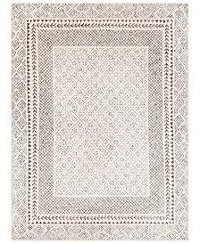 "Surya Bahar BHR-2321 Medium Gray 6'7"" x 9' Area Rug"