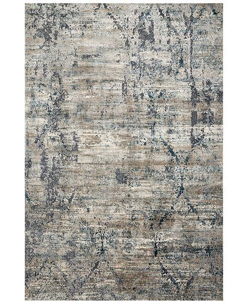 "Loloi Cascade CAS-01 Taupe/Blue 2'7"" x 12' Runner Area Rug"