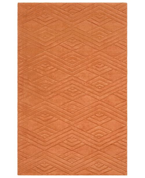 Surya Etching ETC-5002 Burnt Orange 5' x 8' Area Rug