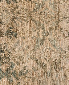 "Xavier Jute XV-12 Natural/Lt. Blue 7'9"" x 9'9"" Area Rug"