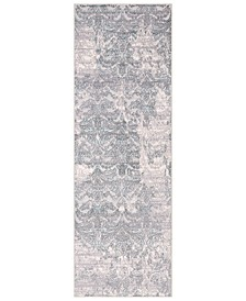"Genesis GNS-2302 Silver Gray 2'7"" x 7'6"" Runner Area Rug"