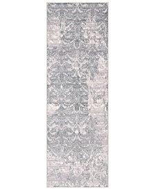 """Surya Genesis GNS-2302 Silver Gray 2'7"""" x 7'6"""" Runner Area Rug"""