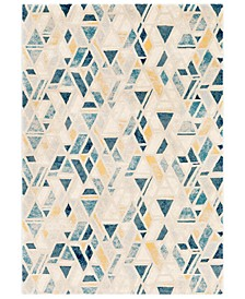 "Cash HAC-2300 Teal 5'3"" x 7'6"" Area Rug"