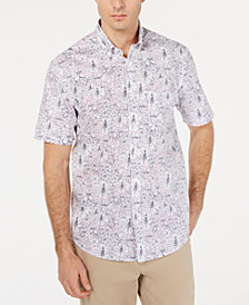 Club Room Men's Prescott Floral Graphic Shirt, Created for Macy's