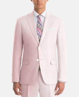 Men's UltraFlex Classic-Fit Pink Linen Sport Coat