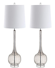 Bette Glass Teardrop Led Table Lamp, Set of 2