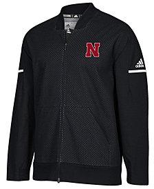adidas Men's Nebraska Cornhuskers Squad Bomber Jacket