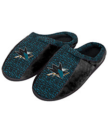 Forever Collectibles San Jose Sharks Knit Cup Sole Slippers