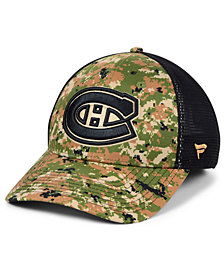 Authentic NHL Headwear Montreal Canadiens Military Appreciation Speed Flex Stretch Fitted Cap