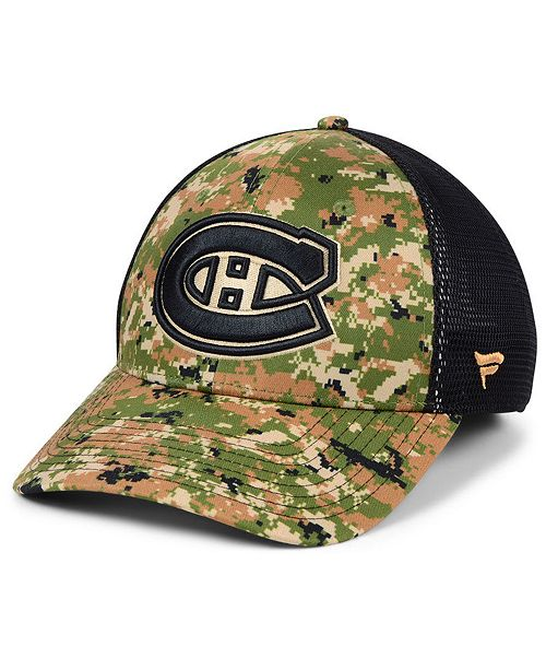 ... Authentic NHL Headwear Montreal Canadiens Military Appreciation Speed  Flex Stretch Fitted Cap ... 360fe808a