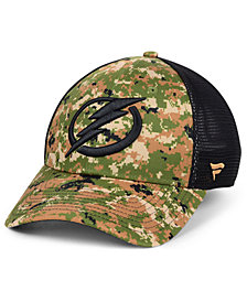 Authentic NHL Headwear Tampa Bay Lightning Military Appreciation Speed Flex Stretch Fitted Cap