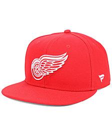 Authentic NHL Headwear Detroit Red Wings Basic Fan Snapback Cap
