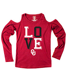 Wes & Willy Oklahoma Sooners Cold Shoulder Long Sleeve T-Shirt, Girls (8-16)