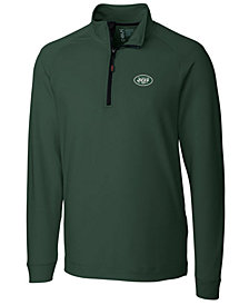 Cutter & Buck Men's New York Jets Jackson Half-Zip Pullover