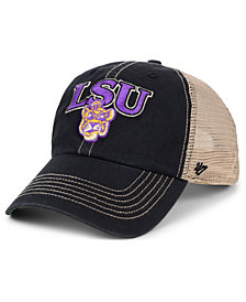 '47 Brand LSU Tigers NCAA Tuscaloosa Mesh CLEAN UP Snapback Cap