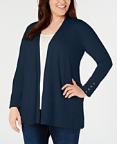 Charter Club Plus Size Pointelle-Trim Completer Cardigan c00533ec0