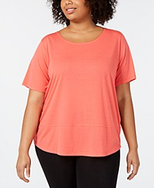 Plus Size Casual SS Shirt Active T-Shirt