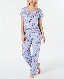 Charter Club Lace-Trimmed Pajama Set, Created for Macy's
