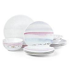 Lenox Watercolor Horizons Blue 12-Pc. Dinnerware Set, Created for Macy's
