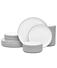 Colortex Stone 12-Pc. Dinnerware Set, Service for 4, Created for Macy's