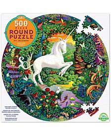 Unicorn Garden Round Puzzle- 500 Pieces