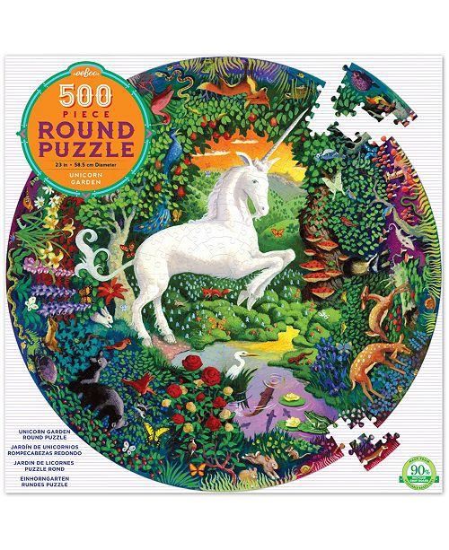 eeBoo Unicorn Garden Round Puzzle- 500 Pieces
