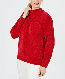Alfred Dunner Classics Chenille Sweater
