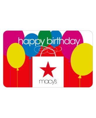 Happy Birthday Macy's Bag E-Gift Card - Gift Cards - Macy's