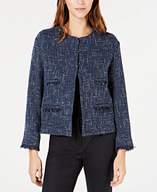 Weekend Max Mara Fringe-Trim Tweed Jacket