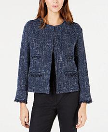 Weekend Max Mara Fringe-Trim Tweed Jacket