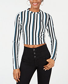 Juicy Couture Striped Cropped Top