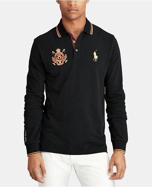 418bb596bdab Polo Ralph Lauren Men's Custom Slim Fit Long-Sleeve Polo ...