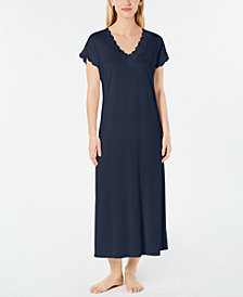 Charter Club Lace-Trimmed Knit Nightgown, Created for Macy's