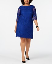 ee7b230803 Jessica Howard Plus Size 3 4-Sleeve Lace Dress