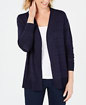 Karen Scott Pointelle-Knit Ottoman Cardigan, Created for Macy's